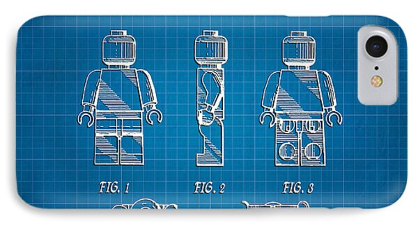 1979 Lego Minifigure Toy Patent Art 1 IPhone Case by Nishanth Gopinathan