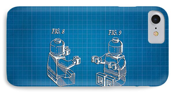1979 Lego Minifigure Toy Patent Art 3 IPhone Case by Nishanth Gopinathan