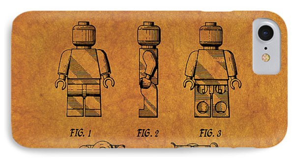 1979 Lego Minifigure Toy Patent Art 4 IPhone Case by Nishanth Gopinathan