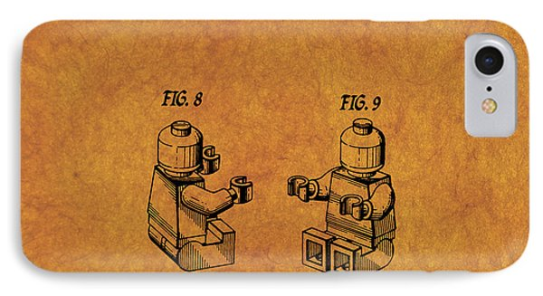 1979 Lego Minifigure Toy Patent Art 6 IPhone Case by Nishanth Gopinathan