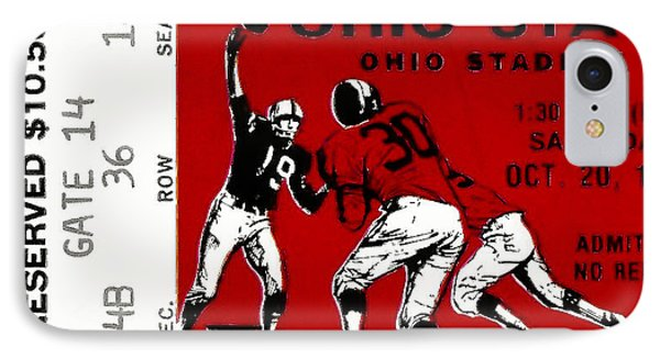 1979 Ohio State Vs Wisconsin Football Ticket Phone Case by David Patterson