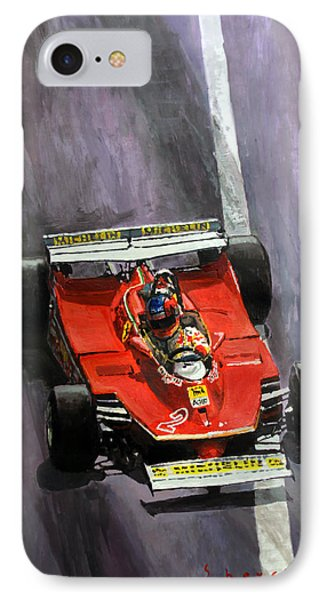 1980 Monaco Gp Gilles Villeneuve Ferrari 312 T5  IPhone Case