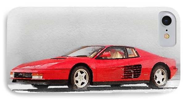 1983 Ferrari 512 Testarossa IPhone Case by Naxart Studio