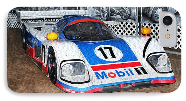 IPhone Case featuring the painting 1989 Aston Martin Amr1/4 by Boris Mordukhayev
