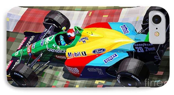 1989 Monaco Benettonb188 Ford Cosworth J Herbert Phone Case by Yuriy Shevchuk