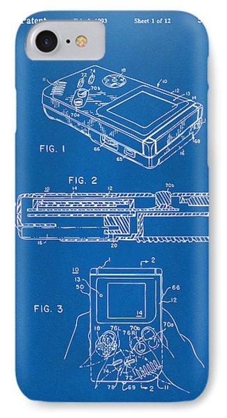 1993 Nintendo Game Boy Patent Artwork Blueprint IPhone Case by Nikki Marie Smith