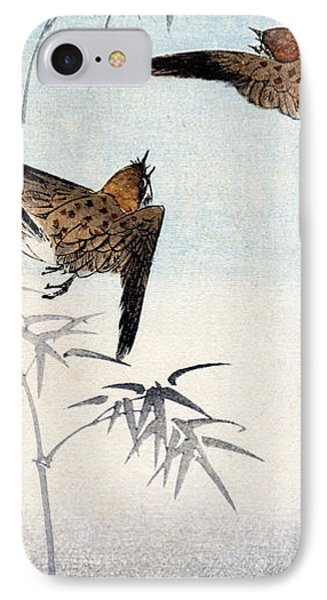 19th C. Japanese Sparrows IPhone Case