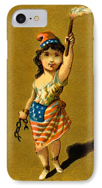 19th C. Lady Liberty  Phone Case by Historic Image
