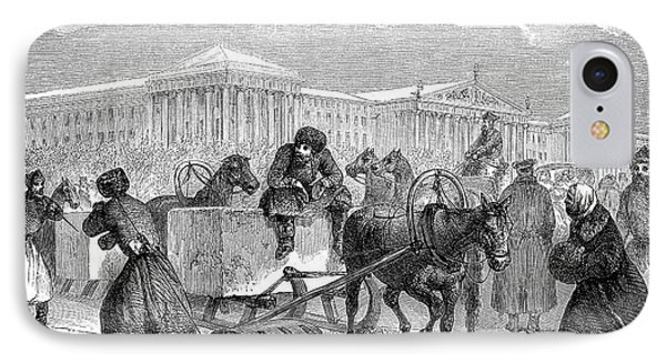 19th Century Ice Transportation IPhone Case by Collection Abecasis