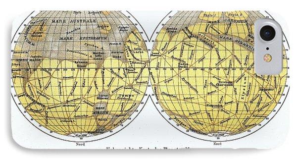 19th Century Map Of Mars IPhone Case