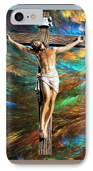 IPhone Case featuring the painting 1cross3nails4given by Karen Showell