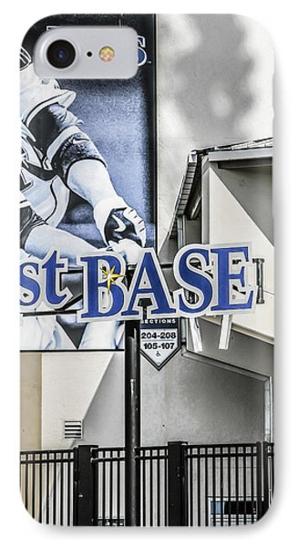 1st Base IPhone Case by Chris Smith