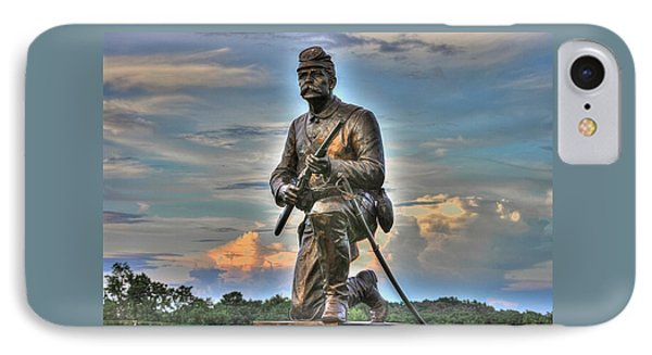 1st Pa Cavalry Regiment Cemetery Ridge Near The Copse Of Trees Evening 3rd Day Of Battle Gettysburg IPhone Case