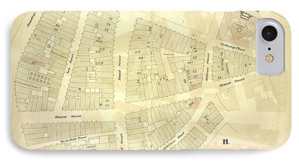 1st Ward. Plate C Map Bounded By Exchange Place, William IPhone Case by Litz Collection