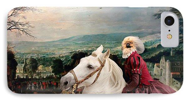Pekingese Art Canvas Print IPhone Case by Sandra Sij
