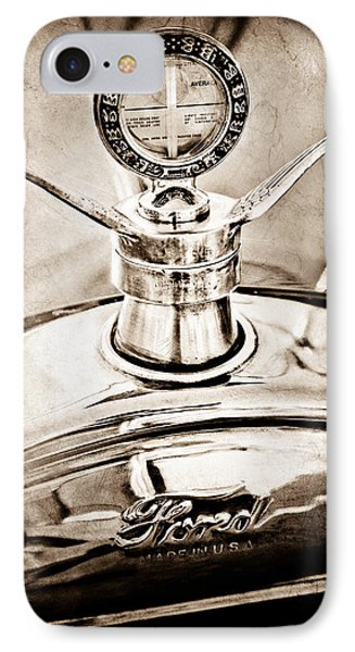 1923 Ford Model T Hood Ornament Phone Case by Jill Reger