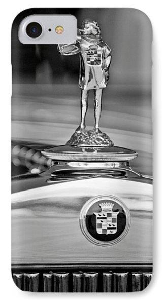 1929 Cadillac 1183 Dual Cowl Phaeton Hood Ornament Phone Case by Jill Reger