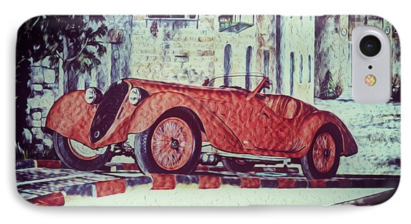 IPhone Case featuring the painting 1937 Alfa Romeo 8c 2900a by Boris Mordukhayev