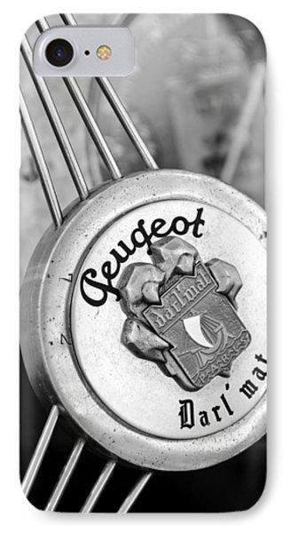1937 Peugeot 402 Darl'mat Legere Special Sport Roadster Recreation Steering Wheel Emblem Phone Case by Jill Reger