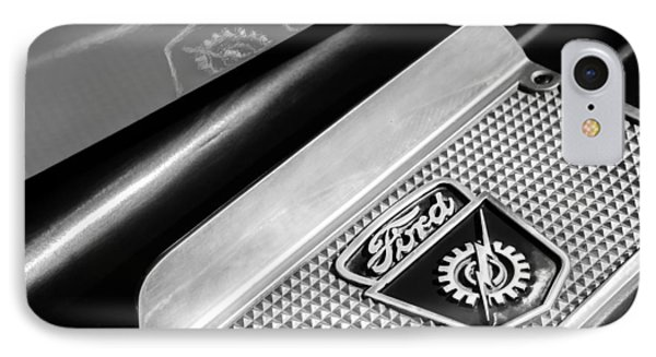 1949 Ford F-1 Pickup Truck Step Plate Emblem -0043bw IPhone Case by Jill Reger