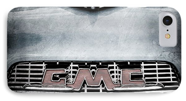 1956 Gmc 100 Deluxe Edition Pickup Truck Hood Ornament - Grille Emblem Phone Case by Jill Reger