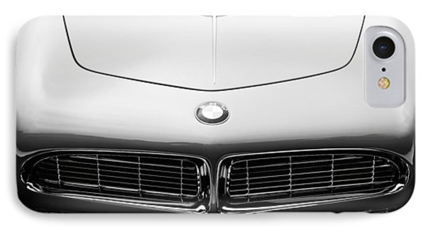 1958 Bmw 507 Series II Roadster Hood Emblem IPhone Case by Jill Reger