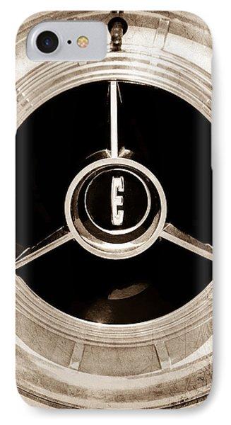 1958 Edsel Pacer Convertible Wheel Emblem IPhone Case by Jill Reger