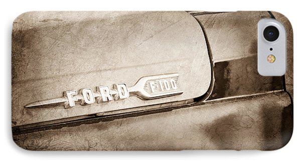 1959 Ford F-100 Emblem IPhone Case by Jill Reger