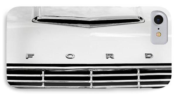 1963 Ford Falcon Futura Convertible  Hood Emblem IPhone Case by Jill Reger