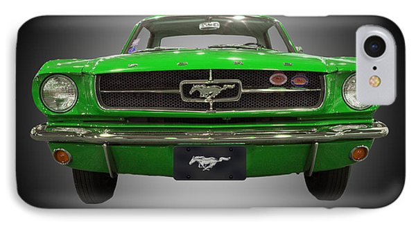 1964 Ford Mustang IPhone Case by Michael Porchik