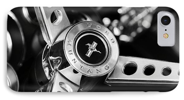 1969 Ford Mustang Mach 1 Steering Wheel IPhone Case by Jill Reger