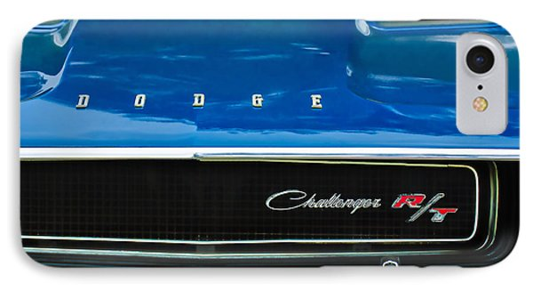 1970 Dodge Challenger Rt Convertible Grille Emblem IPhone Case by Jill Reger