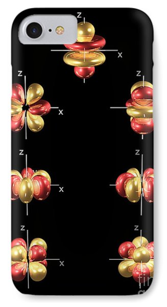 4f Electron Orbitals, General Set IPhone Case by Dr. Mark J. Winter