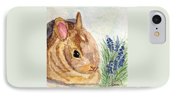 IPhone Case featuring the painting A Baby Bunny by Angela Davies