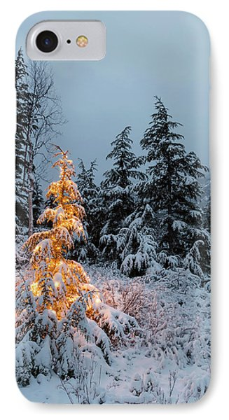 A Festive Mountain Hemlock Evergreen IPhone Case by Kevin Smith