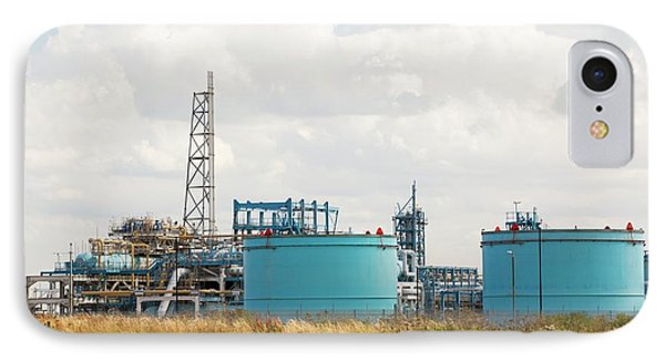 A Gas Plant Receiving North Sea Gas IPhone Case by Ashley Cooper