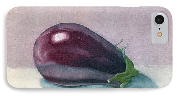 A Is For Aubergine IPhone Case by Katherine Miller