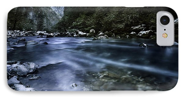 A River Flowing Through The Snowy Phone Case by Evgeny Kuklev