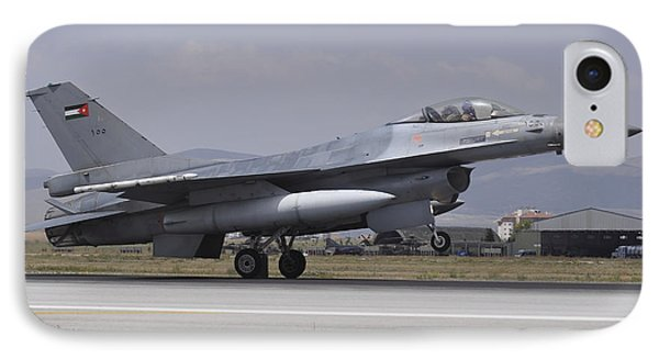 A Royal Jordanian Air Force F-16am IPhone Case by Giorgio Ciarini