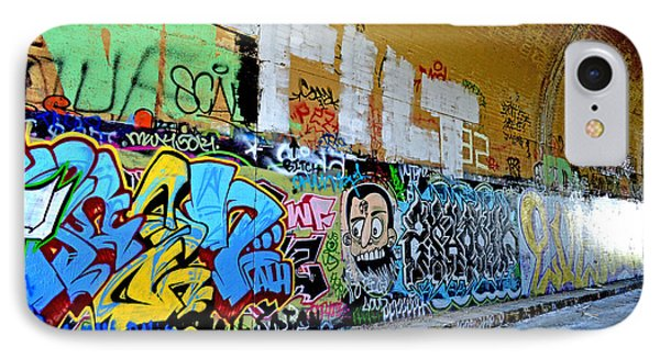 Abandoned Train Tunnel South Of The Old Train Roundhouse At Bayshore Near San Francisco  Phone Case by Jim Fitzpatrick