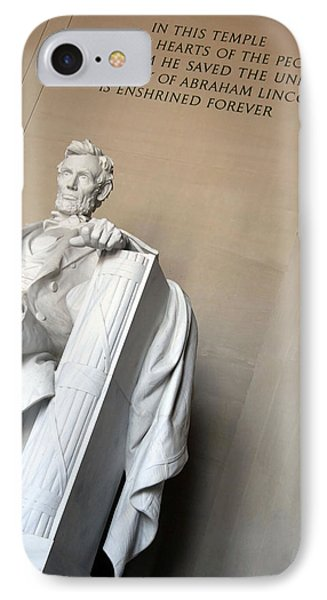 Abraham Lincoln - In This Temple IPhone Case by Cora Wandel