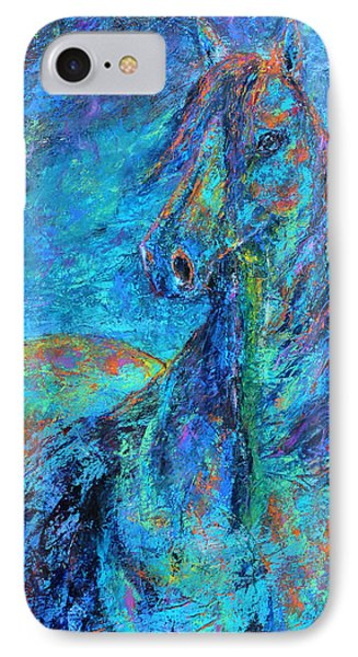 IPhone Case featuring the painting Abstract Arabian  by Jennifer Godshalk