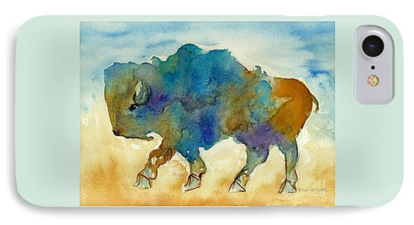 IPhone Case featuring the painting Abstract Buffalo by Nan Wright