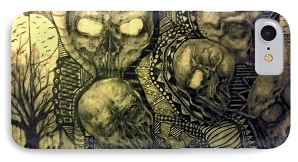 Abstract Skulls IPhone Case