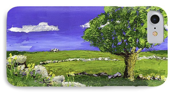 Tree In Maine Blueberry Field IPhone Case by Keith Webber Jr