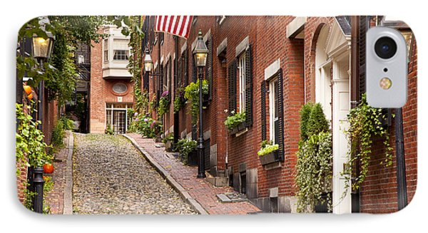 Acorn Street Boston IPhone Case by Brian Jannsen