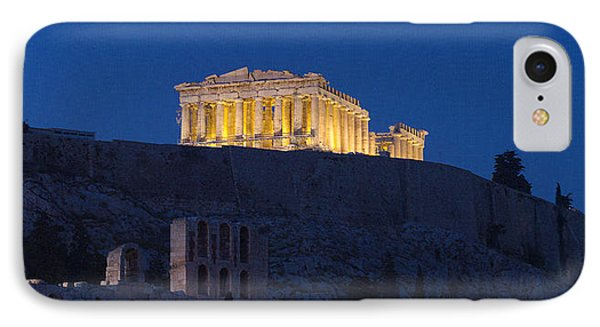 Acropolis Of Athens At Dusk, Athens IPhone Case