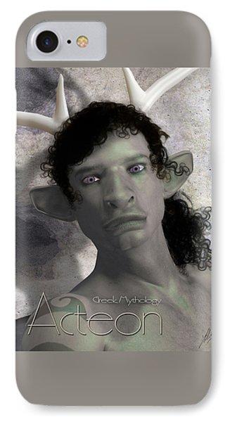 Actaeon Greek  IPhone Case by Quim Abella