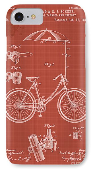 Adjustable Bicycle Parasol And Support Patent IPhone Case