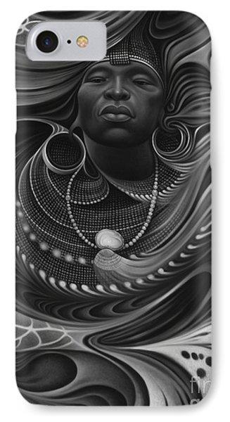 African Spirits I Phone Case by Ricardo Chavez-Mendez